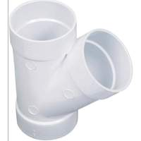 K314018Akatherm PVC lijm t-stuk 50 mm 45° mof/mof/mof wit