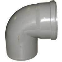 K311563Redi PVC bocht 125 mm 90°, manchet/spie, grijs, 112031