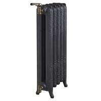 5260027 Drl Decorato kolomradiator 2 koloms met 10 leden l=801mm h=760mm Old Grey 1180 Watt