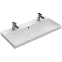 59929431 Villeroy & Boch Avento meubelwastafel 100 cm met 2 kraangaten en overloop wit